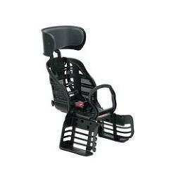 自転車用チャイルドシート ヘッドレスト付 後用  5点式ベルト RBC-007DX3 ブラック(1台)(発送可能時期:1-3日(通常))[チャイルドシート]