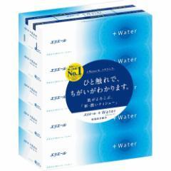 エリエール プラスウォーター(+Water) ティシュー(5箱パック)(発送可能時期:3-7日(通常))[箱ティッシュ]