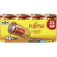 富士通 アルカリ乾電池 単2 4本パック ロングライフ(1セット)(発送可能時期:5-7日(通常))[電池・充電池・充電器]