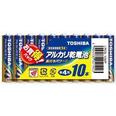 東芝 アルカリ単四形電池 10本パック LR03L10MP(1コ入)(発送可能時期:3-7日(通常))[電池・充電池・充電器]