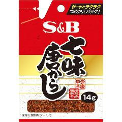 S&B 袋入り 七味唐がらし(14g)(発送可能時期:3-7日(通常))[エスニック調味料]