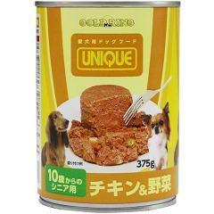 ゴールドリング ユニーク 犬缶 10歳からのシニア用 チキン&野菜(375g)[ドッグフード(ウェットフード)]