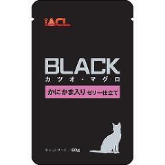 【おススメ】ブラック カツオ・マグロ かにかま入り ゼリー仕立て(60g)(発送可能時期:3-7日(通常))[キャットフード(ウェット)]