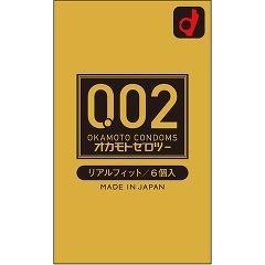 オカモト002(ゼロツー)  リアルフィット(6コ入)(発送可能時期:3-5日(通常))[コンドーム うすうす]