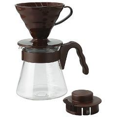 ハリオ コーヒーサーバー V60 02セット 1〜4杯用 ブラウン(1セット)(発送可能時期:1週間-10日(通常))[コーヒー用品]