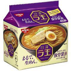 【訳あり】日清ラ王 豚骨醤油(5食入)(発送可能時期:通常1-3日で発送予定)[袋麺]