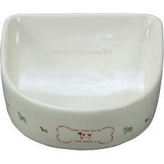 ペティオ 犬用陶器食器 メモリ付 ボーン(Sサイズ*1コ入)(発送可能時期:通常3-5日で発送予定)[ペットの雑貨・ケアグッズ]