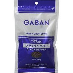 ギャバン ブラックペッパー ホール 袋(100g)(発送可能時期:5-7日(通常))[香辛料]