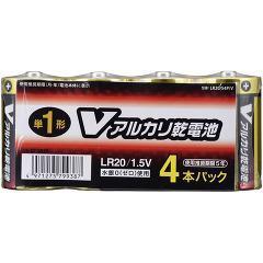 アルカリV電池 単1(4本入)(発送可能時期:5-7日(通常))[電池・充電池・充電器]