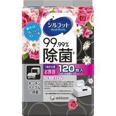 シルコット 99.99%除菌ウェットティッシュ フレッシュフローラルの香り つめかえ用(40枚*3コ入)(発送可能時期:通常3-5日で発送予定)
