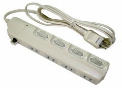 スイッチ付延長コード2m4個口SK-4S02W