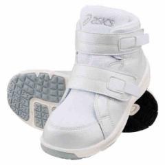 アシックス キッズ 子供靴 スニーカー スクスク SUKUSUKU ジーディーウォーカー ミニ HI ホワイト  asics TUM117-01