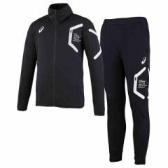 アシックス トレーニングジャケット&トレーニングパンツ 上下セット(ブラック×ブラック) XAT303-90-XAT402-90