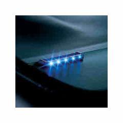 カーメイト ブルー5LED ナイトシグナルフラットロング SQ87
