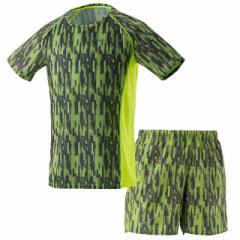 ミズノ ランニングTシャツ&パンツ 上下セット(セーフティイエロー) J2MA7510-31-J2MB7512-31