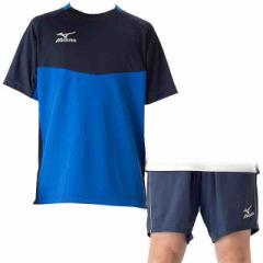ミズノ フィールドシャツ&パンツ 上下セット Tブルードレスネイビー×ドレスネイビー MIZUNO P2MA7044-26-P2MD7062-14