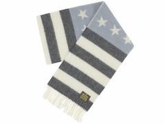 グレンプリンス GLEN PRINCE ラムズウール マフラー 星条旗 ライトブルー/チャコール (LAMBSWOOL SCARF)
