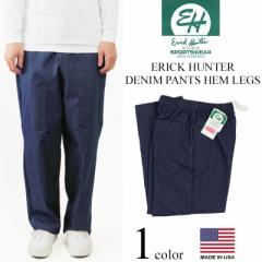 エリックハンター ERICK HUNTER デニムイージーパンツ ■バンダナプレゼント■(米国製 バギーパンツ)