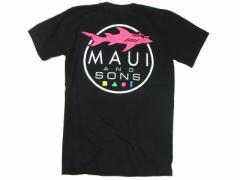 マウイアンドサンズ MAUI AND SONS 半袖Tシャツシャークロゴ ブラック (SHARK LOGO)