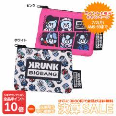10%OFF KRUNK × BIGBANG 平ポーチ フラットポーチS FXXK IT ビッグバン キャラクターグッズ メール SALE 6/4朝10時まで