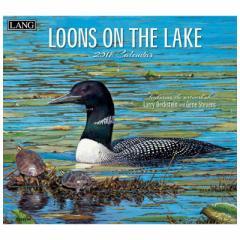 SALE 2018 カレンダー 絵画 LANG ラング 製 LOONS ON THE LAKE Larry Beckstein & Gene Stevens  おしゃれ平成30年 暦通販