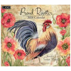 SALE 2018年 カレンダー ラング LANG PROUD ROOSTER Susan Winglet アニマル グッズ おしゃれ平成 30年 暦通販