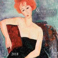 SALE 2018 カレンダー MODIGILIANI モジリアニ TUSHITA  インテリア2018 Calendar平成 30年 暦 通販