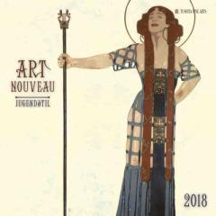 SALE 2018 年 カレンダー ART NOUVEAU アールヌーヴォー TUSHITA  インテリア2018 Calendar平成 30年 暦 通販