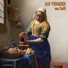 SALE 2018 カレンダー JAN VERMEER VAN DELFT フェルメール TUSHITA  インテリア2018 Calendar平成 30年 暦 通販