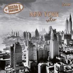 SALE 2018 年 カレンダー NEW YORK RETRO モノクロニューヨーク artwork STUDIOS  インテリア2018 Calendar平成 30年 暦 通販