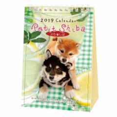 カレンダー 2019年 ぷちしば 柴犬 卓上 スケジュール いぬ インテリア平成31年 暦  予約 メール便可  cp100