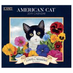アートカレンダー 2019年 ラング LANG 壁掛け AMERICAN CAT Lowell Herrero インテリア平成31年 暦  予約 cp100