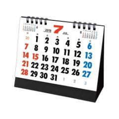 予約  カレンダー 2019年 卓上 L メガ文字 スケジュール シンプル ビジネス トーダン平成31年暦通販 メール便可