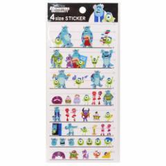モンスターズユニバーシティ シール 4サイズステッカーディズニー カミオジャパン 可愛い 手帳デコ キャラクターグッズ通販