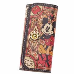 送料無料 ミッキーマウス キーケース レザーキーケース ステンドグラスコレクション ディズニー キャラクター