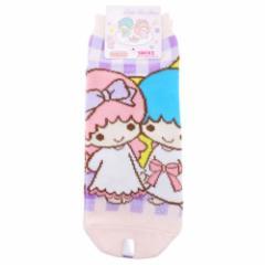 キキ&ララ 女性用靴下 レディースソックス チェック サンリオ キャラクターグッズ通販 メール便可