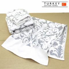 フェイスタオル パイルジャカードフェイスタオル ターキーレース ブラック トルコ製タオル 上質 高級仕様TURKEY COTTON TOWE