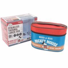 41%OFF ミッキーマウス 保温機能付き弁当箱 フォーク付保温ジャー付ランチボックス Mickeys Cafe ディズニー キ SALE 3/6朝21時まで