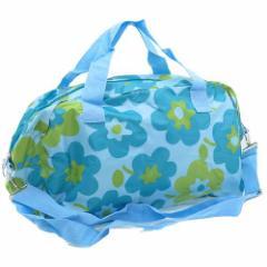 旅行かばん ポケッタブルボストンバッグ ブルーフラワー  おでかけかばん通販