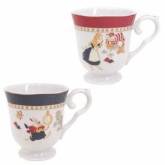 ふしぎの国のアリス 食器ギフトセット ペア脚付きマグカップ2個セットディズニー キャラクターグッズ通販
