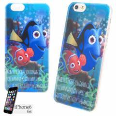 ファインディングニモ ドリー&ニモ iPhone8 7 6S 6s/6ケース アイフォン6Sシェルジャケット オーバーレイシリーズ ディズニー  【