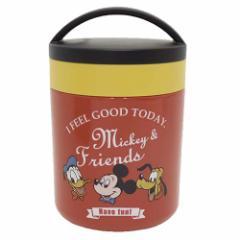 ミッキーマウス 保温機能付き弁当箱 保温保冷デリカポット タイムレスメモリー ディズニー キャラクター グッズ