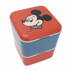 ミッキーマウス お弁当箱 シンプル2段スクエアランチボックス タイムレスメモリーズ ディズニー キャラクター グッズ