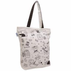 トートバッグ シンプル帆布トート ハリネズミ ちらし  かわいいグッズ通販