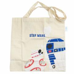 スターウォーズ エコバッグ エコマーク付コットンバッグ R2-D2&BB-8 STAR WARS キャラクターグッズ通販 【メール便可】
