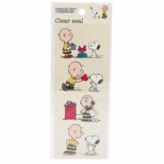 スヌーピー ミニシール クリアステッカー おともだち ピーナッツ キャラクターグッズ通販 【メール便可】