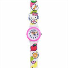 ハローキティ 腕時計 3Dベルト ウォッチ リンゴ ホワイト サンリオ キャラクターグッズ通販