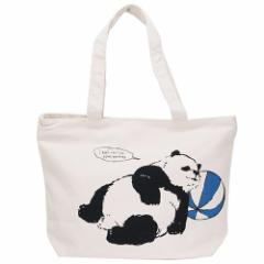 トートバッグ 横型 帆布トート パンダ  かわいいグッズ通販