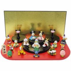 送料無料 ディズニー キャラクターひな人形 15人 台段雛飾りディズニー キャラクター グッズ