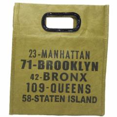 BROOKLYN ブルックリン ランチバッグ ワックスペーパー風保冷クラッチバッグ 緑 キャラクター グッズ